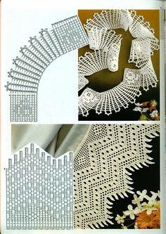 crochet home: beautiful crochet lace Filet Crochet, Crochet Motifs, Crochet Diagram, Crochet Chart, Crochet Trim, Irish Crochet, Crochet Doilies, Crochet Flowers, Knit Crochet