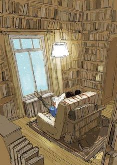 Reading Art, Girl Reading, I Love Books, Books To Read, Home Libraries, World Of Books, Book Aesthetic, Book Nooks, Library Books