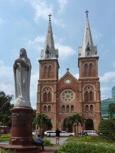 .Saigon Catholic church.  Viet Nam has a large Catholic population as the result of their former status as a French colony.