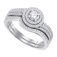 5/8CT-Diamond 1/4CT-CRD BRIDAL SET