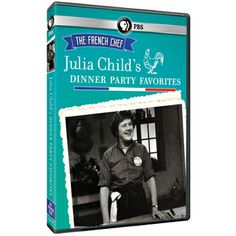 """Julia Child's Dinner Party Favorites DVD ~ """"Cooking legend and cultural icon Julia Child introduced French cuisine to American kitchens. Now chefs of all ages and abilities can share Julia's love of fine French food and learn to cook some of her most-loved dishes with this special collection of six episodes from her original 1960s series, The French Chef. As Julia herself said, """"If I can do it, you can do it ... and here's how to do it! Bon appétit!"""""""""""