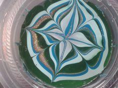 Como hacer el marmolado con agua (stickers casero)