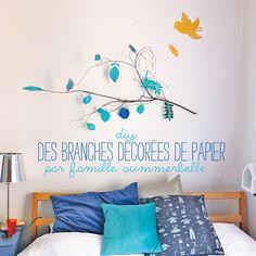 #tuto : des branches décorées de papier par Famille Summerbelle #DIY