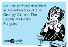 It is true.. I am a Grumpy Cat and Socially Awkward Penguin rolled into one.