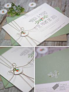 Invitación floral. Modelo Lily #wedding #invitation #stationery