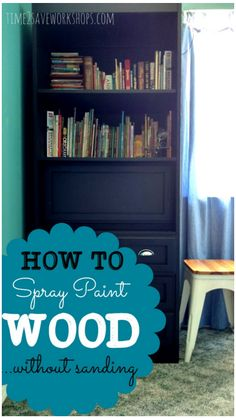 Ever wondered if you could spray paint wood furniture without sanding? Good news - you can! Here's a great DIY project to tackle this weekend!