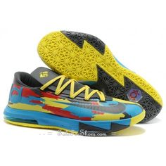 Nike KD VI Venice Beach Stadium Grey Metallic Silver Tour Yellow