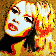 Brigitte Bardot  Original Limited Signed Edition Art Prints are available for $ 35.  www.victorminca.com