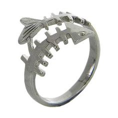 Fish Bone Silver Ring