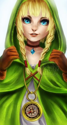 Linkle by on DeviantArt Warriors Game, Hyrule Warriors, The Legend Of Zelda, Zelda Video Games, Link Cosplay, Art Jokes, Master Sword, Lucky Star, Twilight Princess