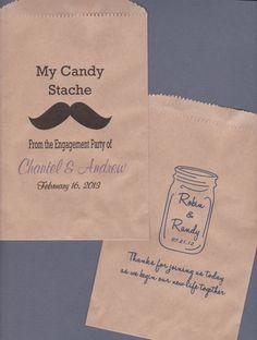 Candy Buffet Bag Kraft Paper Bag Custom Candy Bag by wreathartist, $25.00