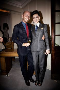 esther quek | Pinstripe suit - I need neckties