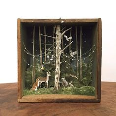 diorama ideas Throwback to this little creature conference. One of two pieces in Enough To Swear By, an exhibition of miniature art at Transylvania Shadow Box Kunst, Shadow Box Art, Arte Assemblage, Arte Pop Up, Diy Décoration, Nature Crafts, Art Plastique, Altered Art, Altered Tins