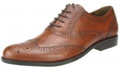 Red Tape Feale Brown Lace up Brogues Leather Mens Smart Office Formal Shoes - £25.99