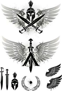 alpha and omega symbols Surf Tattoos, Eagle Tattoos, Maori Tattoos, Viking Tattoos, Body Art Tattoos, Sleeve Tattoos, Samoan Tattoo, Polynesian Tattoos, Tattoo Ink