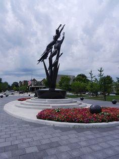 Marshall Fredericks sculpture in Shain Park - Birmingham, Michigan.