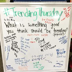 Our Thursday morning message! #4KP #miss5thswhiteboard #iteachfourth…