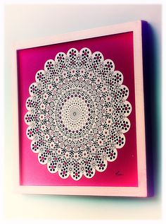 MANDALA OF SEVENTH CHAKRA meaning: confidence, love, communication, protection, compromise, truth,  abundance and hope  www.lapetien.com