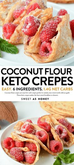 KETO COCONUT FLOUR CREPES are easy low carb breakfast or desserts crepes perfect for sweet or savory filling. KETO COCONUT FLOUR CREPES are easy low carb breakfast or desserts crepes perfect for sweet or savory filling. Low Carb Breakfast Easy, Sweet Breakfast, Breakfast Ideas, Perfect Breakfast, Breakfast Hash, Breakfast Casserole, Breakfast Gravy, Breakfast Crepes, Breakfast Biscuits