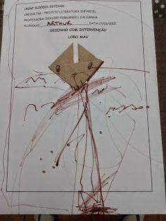 EDUCAÇÃO INFANTIL: DESENHOS COM INTERFERÊNCIA DOBRADURA - Lobo Mau