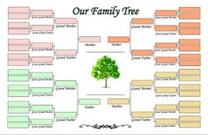 5 Generation Family Tree Outline Four Template
