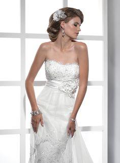 Tulle Beaded Embellishments Lace Sheath Wedding Dress