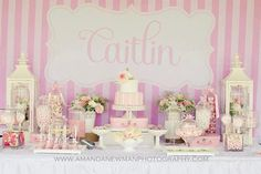 Adorable baby pink/white theme for a girls 1st Birthday :-)