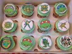 Teenage mutant ninja turtles cupcakes by Angell cakes