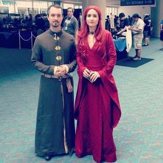 Anyone shipping Lord Baelish and Melisandre? | 28 Comic-Con Couples Who Totally Nailed This Cosplay Thing