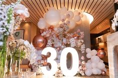 Our friends in Ontario Canada 🇨🇦 setup the balloons in this palm swing backdrop and we are in love 🥰 Go and check… 30th Birthday Balloons, 30th Birthday Themes, Surprise 30th Birthday, 30th Birthday Decorations, Birthday Wall, 30th Party, Adult Birthday Party, Parties Decorations, Elegant Birthday Party