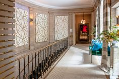 Holiday House — a decorator show home held annually on New York City's Upper East Side — could not be more fittingly named. For one, the house provides the Best Interior, Luxury Interior, Interior Styling, Crystal Chandelier Lighting, Home Lighting, Foyer Staircase, Staircases, Nyc Holidays, Circa Lighting