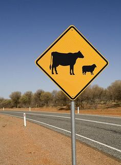 Missouri Cattle Crossing Sign