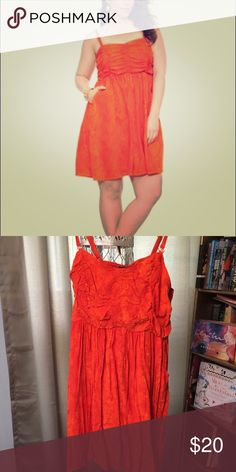 TORRID PLUS SIZE ORANGE REPTILE PATTERN SUNDRESS Funky, flirty orange dress with a reptile pattern detail. Plus size 3. torrid Dresses