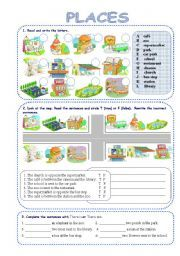 places in a city esl worksheets of the day prepositions teaching english y english lessons. Black Bedroom Furniture Sets. Home Design Ideas