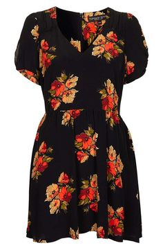 So sweet: Topshop 'autumn floral' dress...this would be super cute with some leggings and boots for the fall/winter