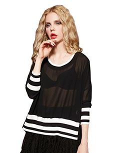 Elf Sack Girls Spring Crewneck Solid Chiffon Tunic Shirt Black Medium ** Continue to the product at the image link.