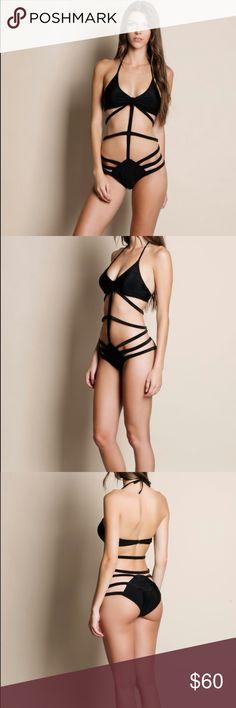 7c4507d2fe20f Strappy Monokini at Poshmark Black strappy monokini Modeling size small -  Bust Waist Hips True to size Swim Bikinis