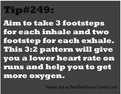 Running  tip ... but I really cannot count my footsteps and breathe at the same time...