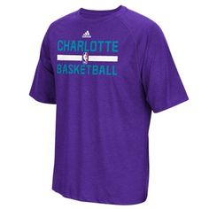 db034f218534b Mens Charlotte Hornets adidas Purple Practice ClimaLITE T-Shirt
