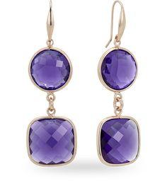 Orecchino in argento rosso 925 con 50.00 ct. di ametista di sintesi - Zoccai 925 #violet #silver #earrings
