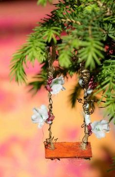 how to: fairy garden house swing