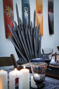 Make sure you have an Iron Throne for your Game of Thrones themed Dinner Party…