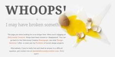 Enjoy these 30 interestingly creative 404 Error pages which everyone would simply love and enjoy to land upon. Creative and catchy 404 Error pages will be entertaining for website visitors. Web Design, Page Design, Web History, 404 Pages, Error Page, Best Web, Service Design, Design Projects, Marvel