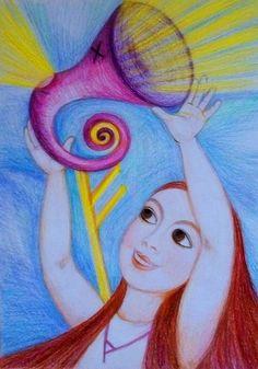 Priestess of Abundance by Ivana Axman #goddess #priestess #symbols #pagan #witch #visionaly #wicca #fehu