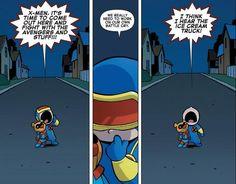 baby x-men (cyclops stole bucky bear)