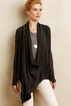 Dipped Cowl Pullover #anthrofave