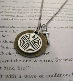 The Maze Runner necklace ($15). - clever jewelry inspired by books