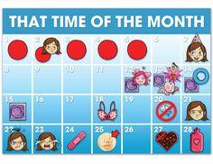Menstrual Cycle Chart - interesting.....all makes sense now!