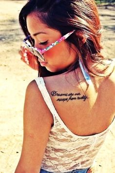 Shoulder Sexy Short Love Quote Tattoos for Girls - Cute Short Love Quote Tattoos for Women #quote #tattoo www.loveitsomuch.com