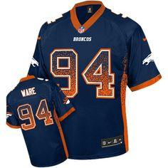 Bengals Vontaze Burfict 55 jersey Nike Broncos #94 DeMarcus Ware Navy Blue Alternate Men's Stitched NFL Elite Drift Fashion Jersey Steelers Troy Polamalu 43 jersey David Njoku jersey